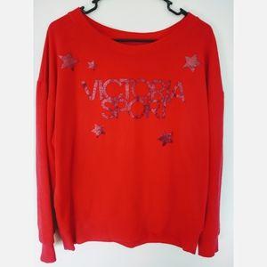 Victoria's Secret Sport Star Red Sweatshirt